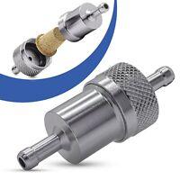 Universal Kraftstofffilter 7mm Aluminium Benzinfilter KFZ Auto Motorrad Silber