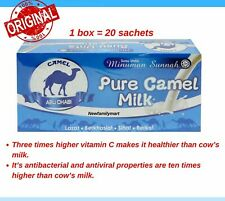 Pure Camel Milk Powder CAMEL ABU DHABI (20 Sachets x 25gram) delivery from UK.