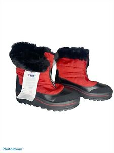 Pajar Canada Temoen Faux Fur Lined Waterproof Boot red black size 10 NEW $220
