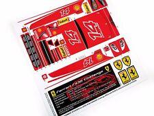 REPLACEMENT STICKERS for Lego 8143 Ferrari F430 Challenge Red version + BONUS
