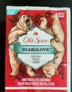 Old Spice Bearglove Bar Soap Wild Collection Scent (6 Pack) discontinued New