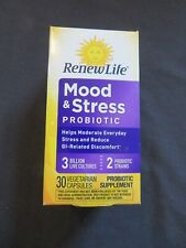 Renew Life Mood & Stress Probiotic 3 Billion 30 Vegetarian Capsules #N