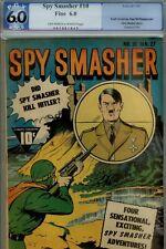 SPY SMASHER #10- PGX 6.0- RARE HITLER CVR- WWII COMIC 1943
