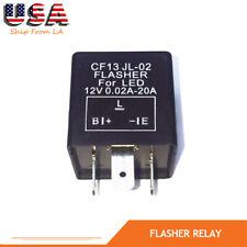 1X New 3 Pin CF-13 Car Flasher Relay Fix LED Light Turn Signal Hyper/No Flash