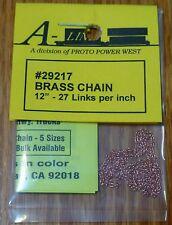 "A-Line #29217 Brass Chain - 12"" 30.5cm -- 27 Links Per Inch"