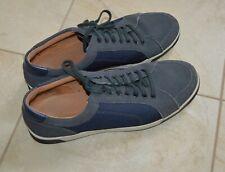 Cole Haan C20964 Punto Zapatillas Gris Cuero Blanco Azul Hombre Talla 10 M FT