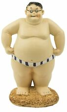 Seaside Figurine Beach Ocean Sea Decor Fat Chubby Man Bloke Statuette Ornament