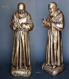 Statua Padre Pio benedicente, da 50 a 60cm, in resina made in ITALY