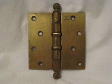 """antique Stanley SW Heart ball tip hinge  4.5"""" Pat.1925 mortise door hardware"""