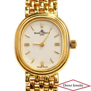 BAUME & MERCIER 6635 14K Yellow Gold Ladies Quartz Watch 33.2 Grams NR