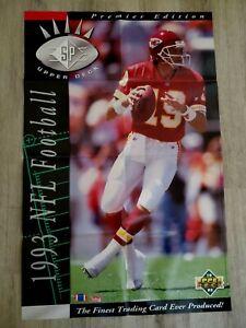"1993 Upper Deck Promo Poster 22"" x 34"" Joe Montana"