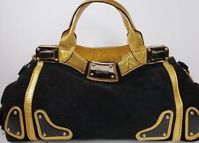 RARE $4000 GUCCI BLACK INDY RACE HOBO BAG W BAMBOO & TASSELS - AUTHENTIC