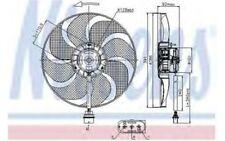 NISSENS Ventilador, refrigeración del motor VOLKSWAGEN SEAT IBIZA SKODA 85690