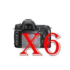 6 PZ PELLICOLA PROTEZIONE DISPLAY PER Nikon DSLR D90 PROTEGGI SCHERMO LCD