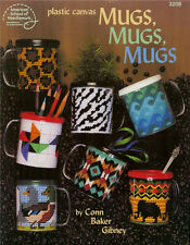 MUGS, MUGS, MUGS PLASTIC CANVAS Pattern BOOK ~ NEW