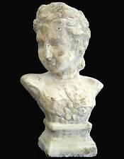 style ancien grand buste sur socle en pierre terre cuite statue sculpture 31cm