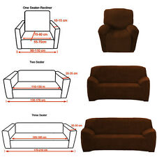 Easy Fit Sofa Couch Slip Cover  1 2 3 Seater Loveseat Recliner Lounge Protector