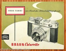 Kamera Prospekt BRAUN COLORETTE Super I / IB / II / IIB Objektive Zubehör (X2875