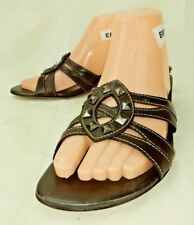 Cole Haan D17770 Wos Shoes Sandals US 8 B Black Leather Open Toe Heels 714