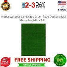 Indoor Outdoor Landscape Green Patio Deck Artificial Grass Rug 6 Ft. X 8 Ft.