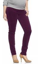 Gap 1969 Womens Maternity Size 33/ 16 Short Always Skinny Purple Corduroy PANTS