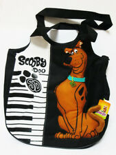 Scooby Doo Piano Black&White Women Girl Nylon Shoulder Bag #006