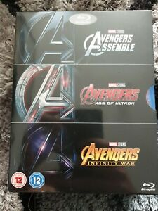 AVENGERS BLU RAY BOX SET NEW SEALED ASSEMBLE AGE OF ULTRON INFINITY WAR