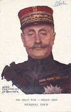 Bouchor Signed General Foch Patriotic Postcard