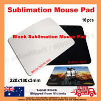 10x Blank Mouse Pads/Mats for Dye Sublimation Heat Transfer Printing
