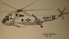 Sikorsky SH-3D Helicopter Limited Print by Joe Milich of Lakewood, CO
