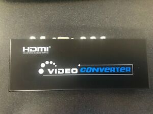 VGA or Component Video + R/L RCA or 3.5mm Stereo Audio to HDMI & SPDIF Converter