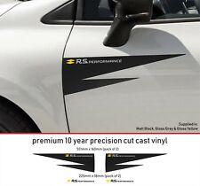 Renault Sport RS Performance Door Decal Premium 10 Year Vinyl Decal Stickers kit