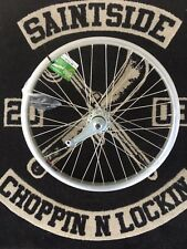 "Lowrider Dragster Bicycle Bike 20"" 36 Spoke Alloy Rear Rim Tube & Whitewall Tyre"
