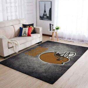 Cleveland Browns Rugs Anti-Skid Area Rug Living Room Bedroom Floor Mat Carpet