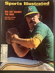Sports Illustrated October 23 1972 Jim Catfish Hunter Red Hot Against The Reds