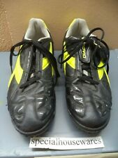DIADORA Shoes With Cleats Black Feels Like Leather & Rubber Men's Size 8 1/2 VGC