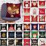 Christmas Santa Claus Pattern Linen Pillowcase Soft Sofa Throw Pillow Case Cover