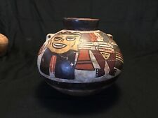 A Rare Pre Columbian Mayan Polychrome Painted Pot Vessel Nazca Repaired As Is