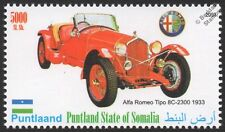 1933 ALFA ROMEO Tipo 8C 2300 Sports Car Automobile Stamp