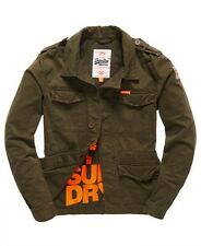 Superdry Winter Military Rookie Blazer - Dark Khaki L BNWT