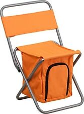 Flash Furniture Folding Camping Chair w/Insulated Storage in Orange TY1262-OR-GG