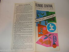 Illinois Central Timetables Winter 1968 - Spring 1969