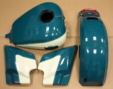 Harley-Davidson turquoise & White Touring Paint Set Tank Fender Side Covers Nice