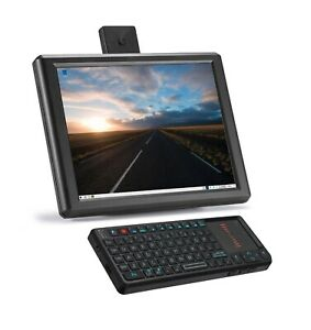 Vilros Raspberry Pi 4 Desktop with 8 Inch Screen and Mini Keyboard/Touchpad Comb