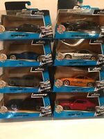 8 NEW JADA Fast & Furious Movie Die Cast Cars