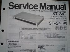 TECHNICS ST-S4T ST-S4TK Stereo Tuner Service manual wiring parts diagram