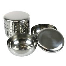 4 Sets Korean Stainless Steel Rice Bowl  + Lid  Kitchen Restaurant Dinner Bowl