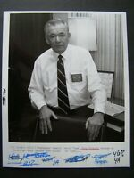 Glossy Press Photo 1987 Framingham General Motors Plant Manager Russ McCarthy