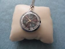 Vintage Wind Up Swiss Made Webster 5th Avenue Necklace Pendant Watch