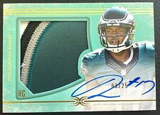 #/25 Nelson Agholor 2015 Topps Definitive Collection Green Auto Patch RC